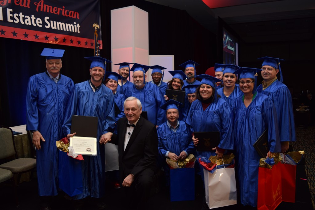 Ron with the graduating masters students